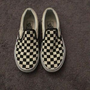 Vans Checkerboard Slip Ons